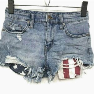 Mossimo Denim High Rise Jean Shorts 0/25
